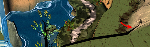 An example of the landscape outlines in the game.